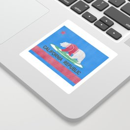 Polar Bear In California Sticker
