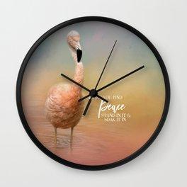 Finding Peace Wall Clock