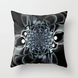 Abstract brooch Throw Pillow