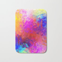 Colorful Splatter Bath Mat