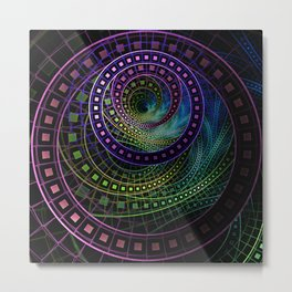 The Fractal Technicolor Rainbow of Oz the Great and Powerful Metal Print