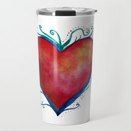 Love Red Heart Travel Mug