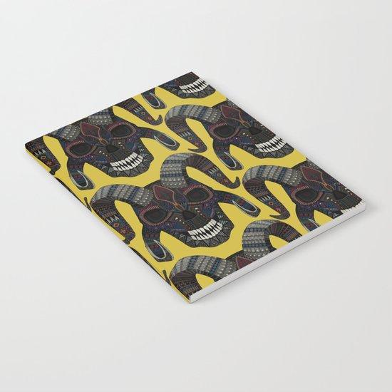 demon skull ochre Notebook