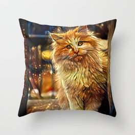 Dreams of a Midnight Visitor Throw Pillow