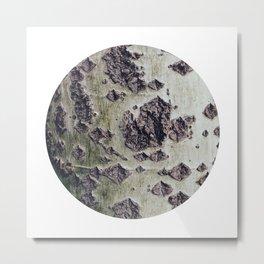 Planetary Bodies - Green Tree Metal Print