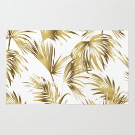Golden palms Rug