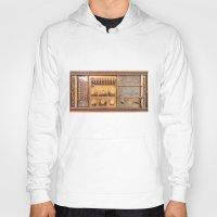 transistor Hoodies featuring Vintage Wall Radio by jculver