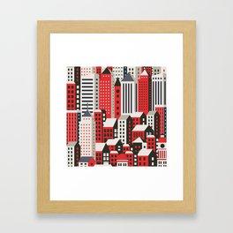Urban city Framed Art Print