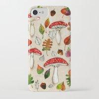 mushrooms iPhone & iPod Cases featuring Mushrooms by Minasmoke