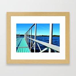 Summer on the Lake Framed Art Print