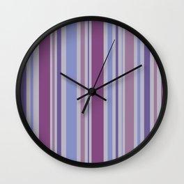 Striped Pattern (ultraviolet rhapsody) Wall Clock