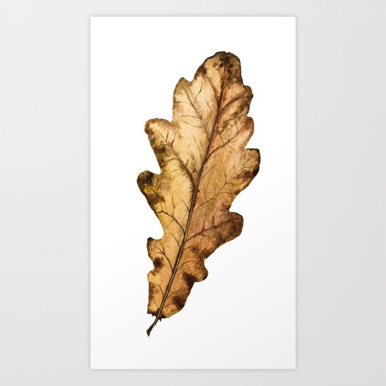 Autumn Leaf 01 Art Print