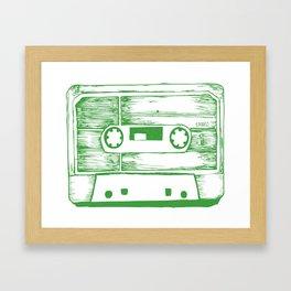 Stereo Cassete Framed Art Print