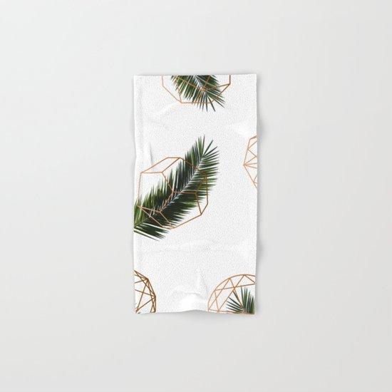 Palm + Geometry V2 #society6 #decor #buyart Hand & Bath Towel