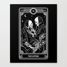 The Lovers Skeleton Canvas Print