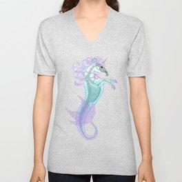 Pastel Sea Horse Unisex V-Neck