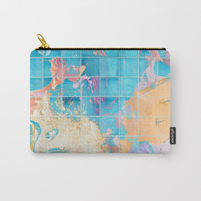 Mosaic Paint Spill V2 #society6 #decor #buyart Carry-All Pouch
