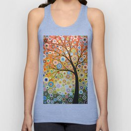 Abstract Art Original Landscape Painting ... Rays of Hope Unisex Tank Top