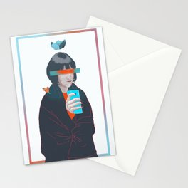 blue cold milk, your winter highness Stationery Cards