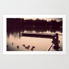 ducks. Art Print
