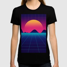 Throwback Sunset Synthwave T-shirt