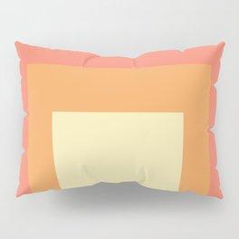 Block Colors - Pink Orange Cream Pillow Sham