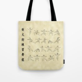 The Dancing Dragon Tote Bag