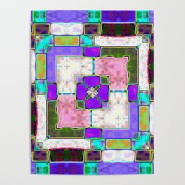 Glass Block Abstract Poster