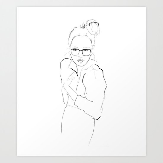 I Like Your Glasses Art Print