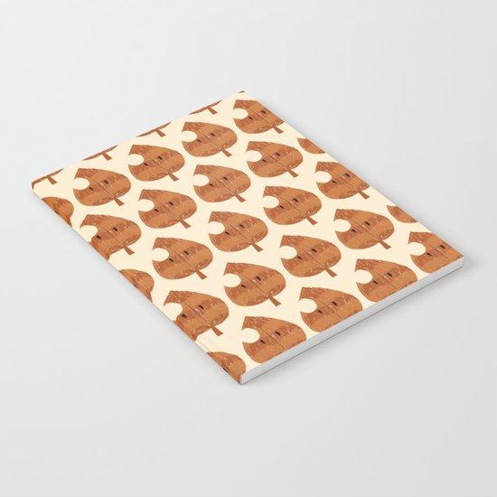 raccoon leaf pattern Notebook