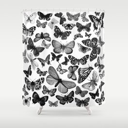 BUTTERFLY CLUSTER MONO Shower Curtain