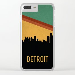 Detroit Skyline Clear iPhone Case