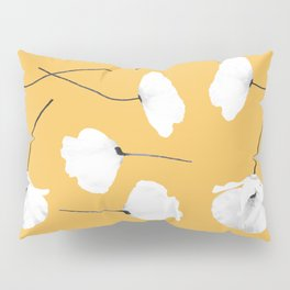 Poppies on mustard Pillow Sham