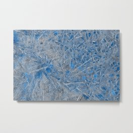 Blue Ice Texture Metal Print