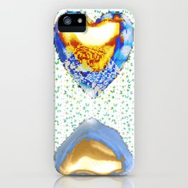 Tiger Heart Digital Collage iPhone Case