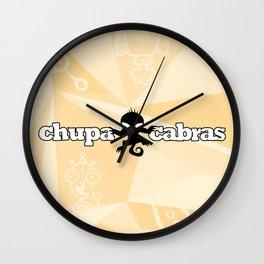 CHUPACABRAS - Light Yellow Edition Wall Clock