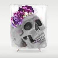 frida Shower Curtains featuring Frida by Denise Fou