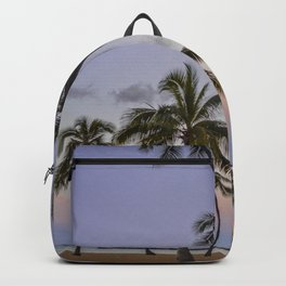 Tall Palms, Waikiki Sunrise Backpack