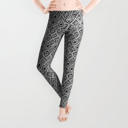 60s - Black abstract pattern on concrete - Mix & Match with Simplicty of life Leggings