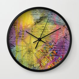 Sweet Disarray 01 Wall Clock