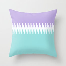 Pale Blue And Violet Stripe And Block Throw Pillow