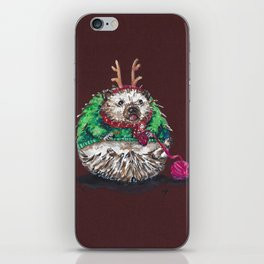 Holiday Sweater Crochet Critter iPhone Skin