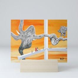 Pachyderm Cannibalism Mini Art Print