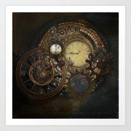 Steampunk Clocks Art Print
