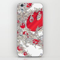 foo fighters iPhone & iPod Skins featuring Rebel Fighters by Guy Warley