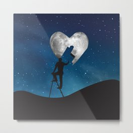 Painting The Moon Metal Print