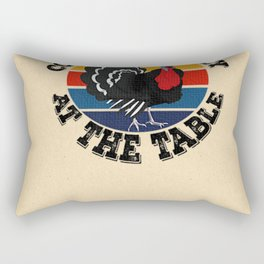 Coolest Turkey At The Table  Funny Thanksgiving Premium Rectangular Pillow