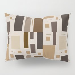 Retro Squares in Browns and Golds Pillow Sham