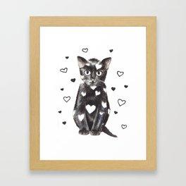 Kitten illustration Framed Art Print