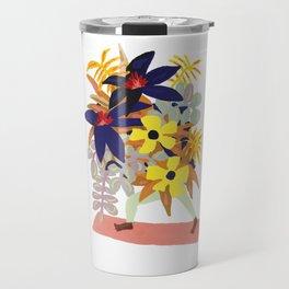 Floral Yoga Babe Travel Mug